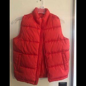 Boys orange puffer vest